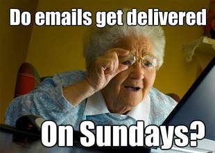 do emails get delivered on sundays