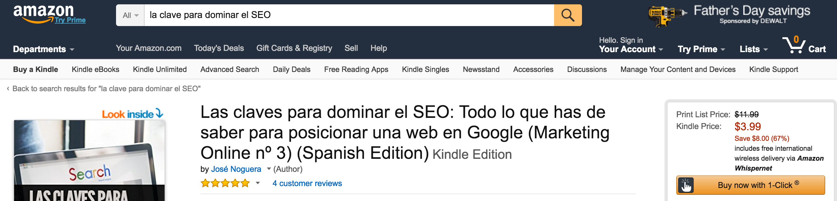 Amazon.com Las claves para dominar el SEO Todo lo que has de saber para posicionar una web en Google Marketing Online nº 3 Spanish Edition eBook José Noguera Kindle Store