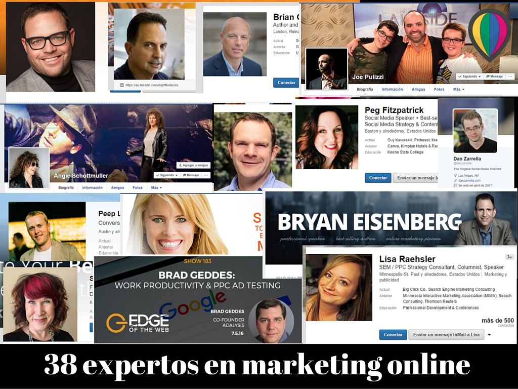 38 expertos en marketing online