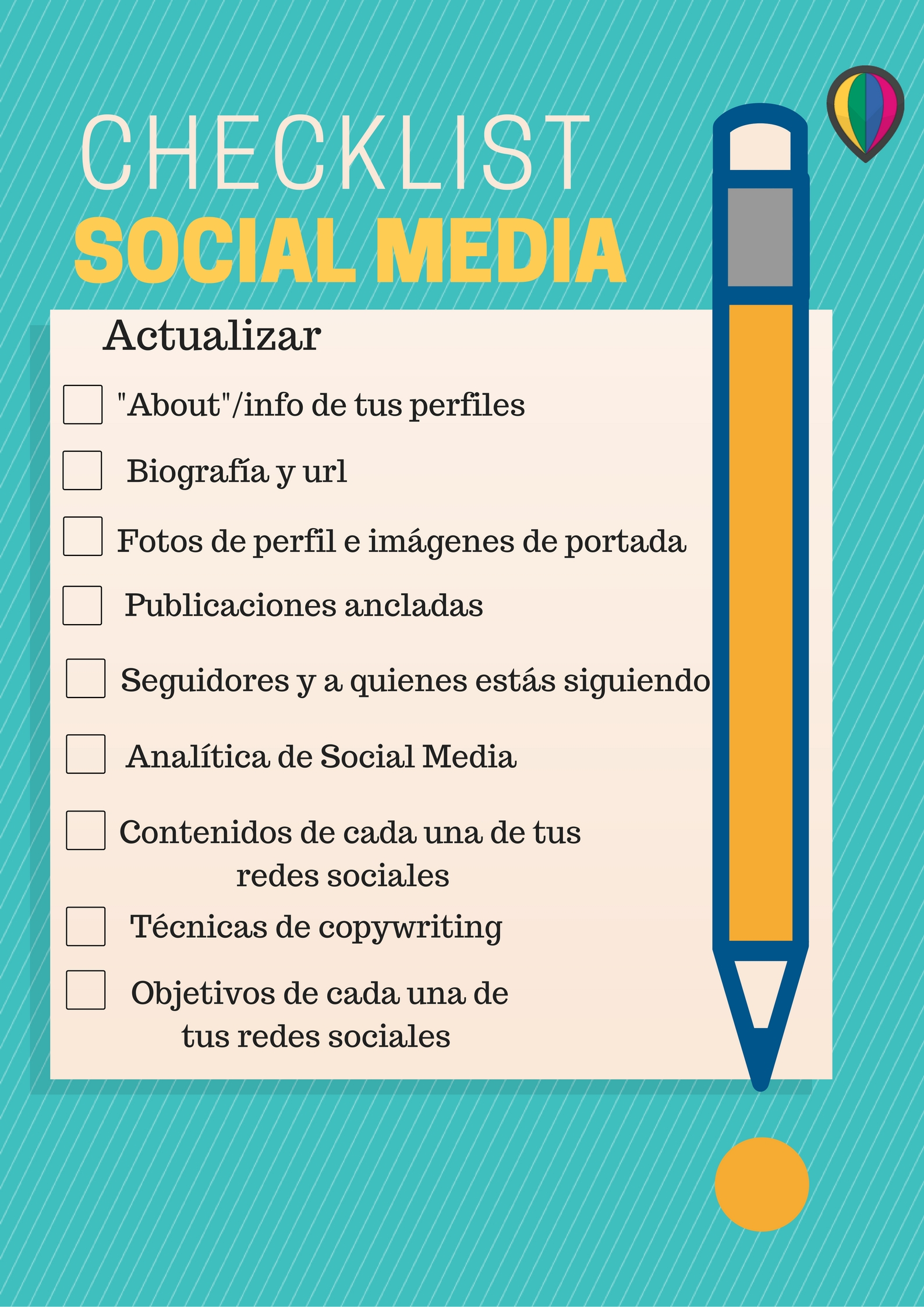 Checklist para renovar plan de marketing social